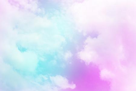 Foto de Colorful sky and pastel color with cloud background. - Imagen libre de derechos