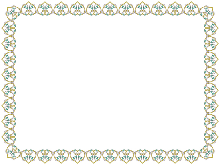 Ilustración de Victorian delicate floral frame with interwoven lines and flowers in pale hues on the white background, vector as an element of design - Imagen libre de derechos