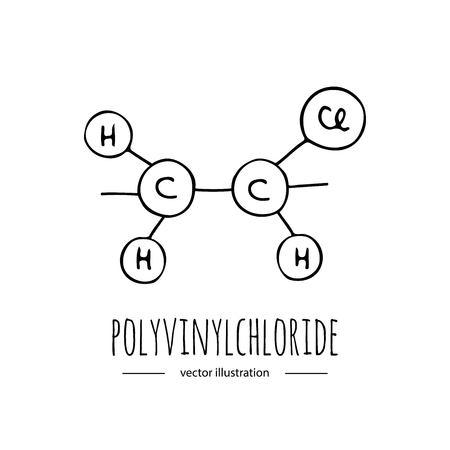 Illustration pour Hand drawn doodle Polyvinylchloride - image libre de droit