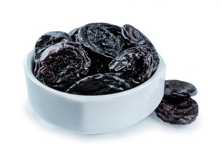 Photo for Prunes fruits in a bowl isolated. toning. selective focus - Royalty Free Image