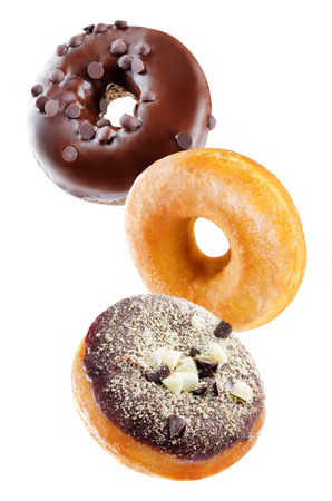 Photo for Donuts on a white background. toning. selective focus - Royalty Free Image