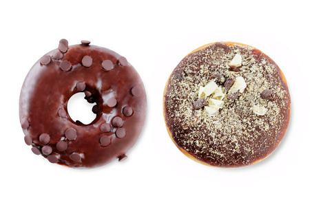 Photo for Donuts on a white - Royalty Free Image