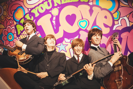 Photo pour London, United Kingdom - August 24, 2017: The Beatles in Madame Tussauds of London - image libre de droit