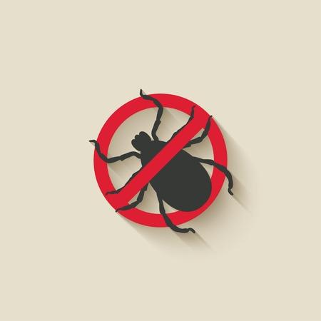Illustration pour mite warning sign - image libre de droit