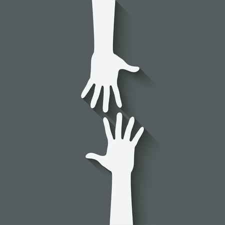 Illustration pour helping hand symbol - image libre de droit