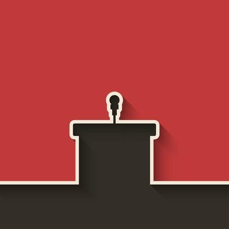Ilustración de podium with microphone - Imagen libre de derechos