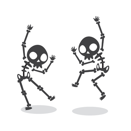 Ilustración de Funny Dancing Skeleton. - Imagen libre de derechos