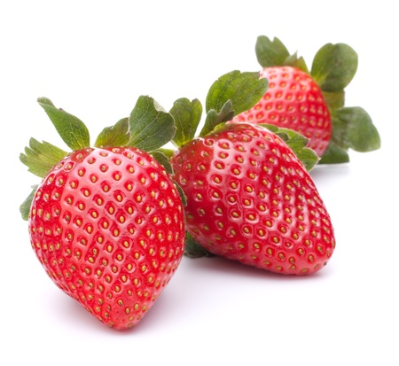 Photo for Strawberry isolated on white background cutout - Royalty Free Image