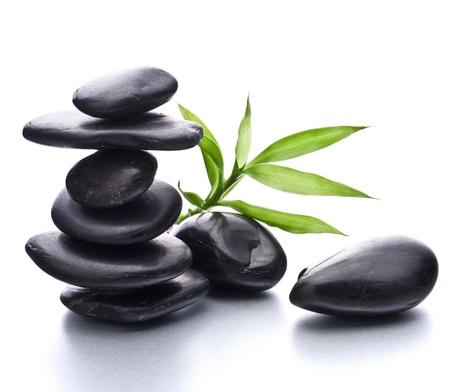 Photo for Zen pebbles balance. Spa and healthcare concept. - Royalty Free Image
