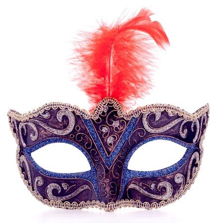 Photo pour Venetian carnival mask isolated on white background cutout - image libre de droit