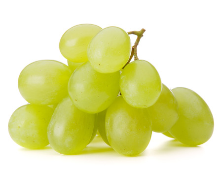 Photo for Green grape bunch isolated on white background cutout - Royalty Free Image