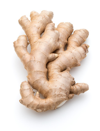 Photo for Fresh ginger root or rhizome isolated on white background cutout - Royalty Free Image