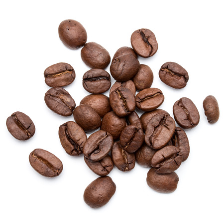 Foto für roasted coffee beans isolated in white background cutout - Lizenzfreies Bild
