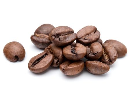 Foto de roasted coffee beans isolated in white background cutout - Imagen libre de derechos