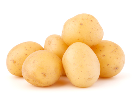 Photo for potatoes isolated on white background - Royalty Free Image