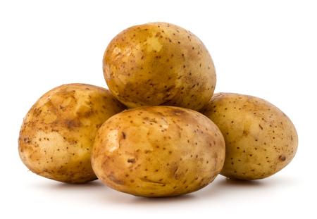 Foto de new potato tuber isolated on white background cutout - Imagen libre de derechos