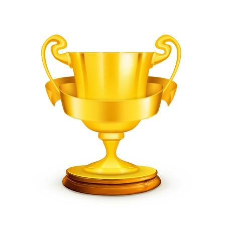 Ilustración de Gold trophy,illustration - Imagen libre de derechos
