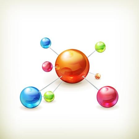 Illustration pour molecule icon - image libre de droit