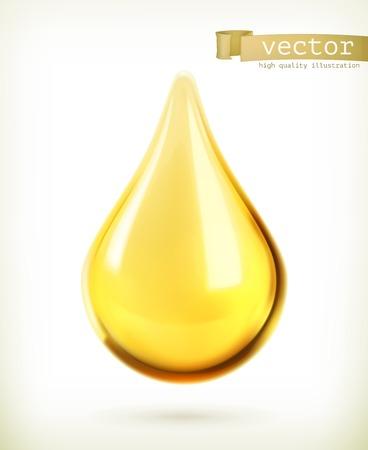 Ilustración de Oil drop, vector icon - Imagen libre de derechos