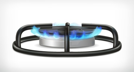 Illustration for Kitchen gas stove, vector object - Royalty Free Image