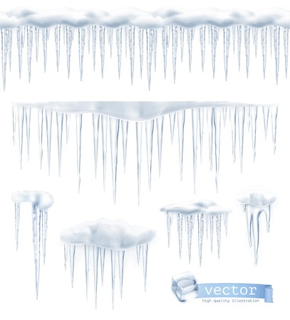 Illustration pour Icicles, set vector - image libre de droit