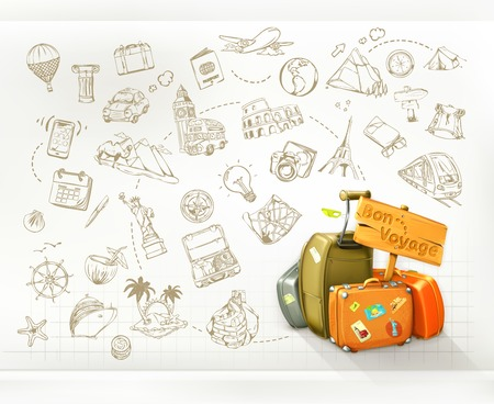 Illustration pour Travel infographics, vector - image libre de droit