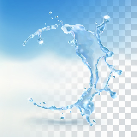 Illustration pour Water splash, vector element with transparency - image libre de droit