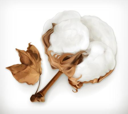 Ilustración de Cotton, vector icon isolated on white background - Imagen libre de derechos