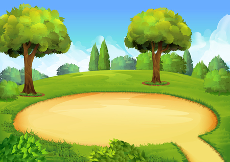 Illustration for Park playground, vector illustration background - Royalty Free Image