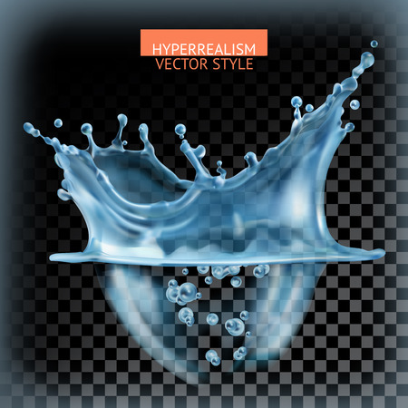 Ilustración de Water splash with transparency, hyperrealism vector style - Imagen libre de derechos