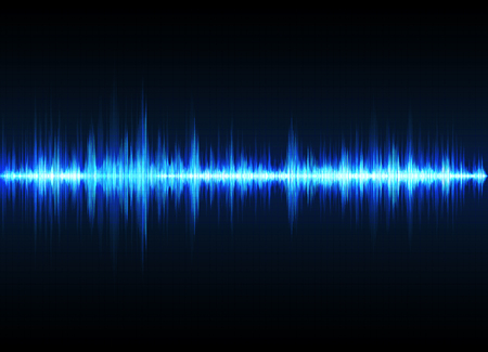 Ilustración de Sound wave vector background. Blue digital equalizer - Imagen libre de derechos