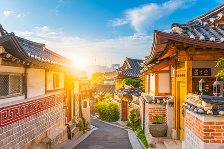 Photo for Sunrise of Bukchon Hanok Village in Seoul, South Korea. - Royalty Free Image