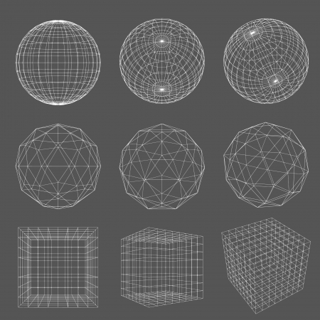 Illustration pour Geometry Wireframe  - image libre de droit