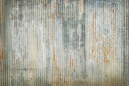 Photo for Old zinc wall texture background, rusty on galvanized metal panel sheeting. - Royalty Free Image