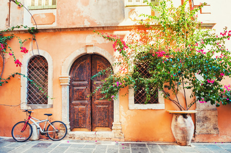 Photo for Beautiful ancient building in Chania, Crete island, Greece.  - Royalty Free Image