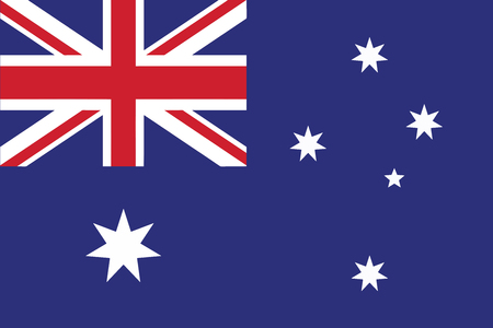 Illustration for Flag of Australia. Vector illustration. - Royalty Free Image