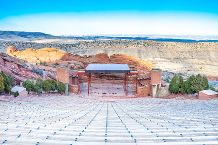 Photo pour Historic Red Rocks Amphitheater near Denver, Colorado - image libre de droit