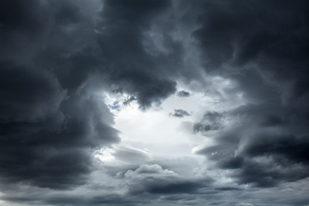 Photo for Dramatic sky with stormy clouds - Royalty Free Image