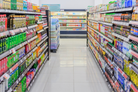 Photo pour abstract blurred photo of department store bokeh background shopping in supermarket - image libre de droit