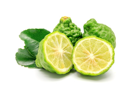 Photo pour Bergamot fruit, Bergamot isolated on white background. - image libre de droit