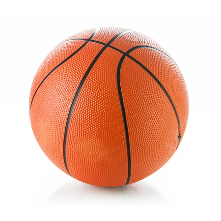 Photo pour Basketball ball on white background - image libre de droit