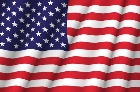 Foto de Fabric Flag of United States of America - Imagen libre de derechos