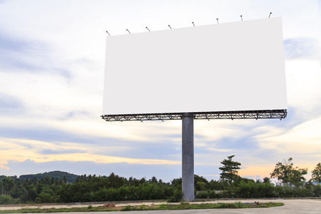 Photo pour Blank Outdoor Billboard - image libre de droit