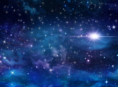 Photo for beautiful background of the night sky with stars - Royalty Free Image