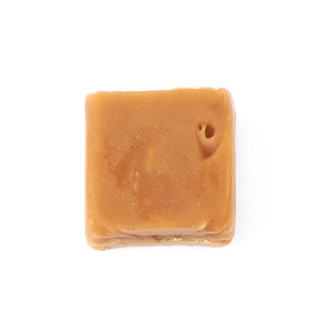 Foto de Scottish whisky fudge candy isolated over the white background - Imagen libre de derechos