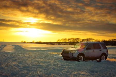 Photo pour Land Rover Freelander suv - image libre de droit