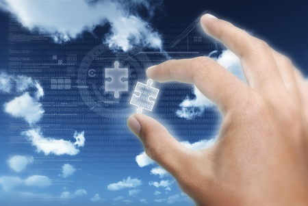 Taking or putting the right piece of  information puzzle into digital information technology data transfer
