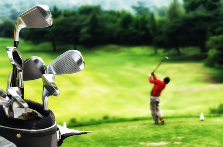 Photo pour Best images series of golf as a sport, hobby and or  lifestyle - image libre de droit