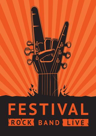Illustration pour Rock Festival. Vector poster. - image libre de droit