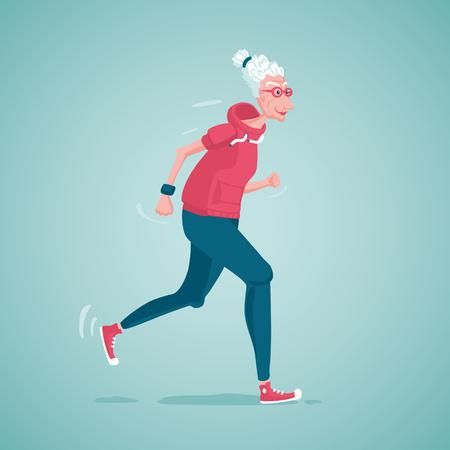 Foto de Old lady running - Imagen libre de derechos